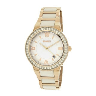 Roberto Bianci Women's 5872L Rose Goldplated White Ceramic Watch