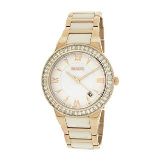Roberto Bianci Women's 5872L Rose Goldplated White Ceramic Watch