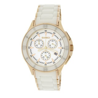 Roberto Bianci 5873U Rose Goldplated White Ceramic Chronograph Watch