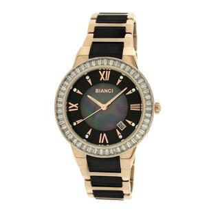 Roberto Bianci Women's 5872L Rose Goldplated Black Ceramic Watch