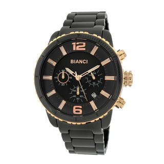 Roberto Bianci 5875M Rose Goldplated Black Ceramic Chronograph Watch