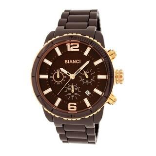 Roberto Bianci 5875M Rose Gold-plated Brown Ceramic Chronograph Watch