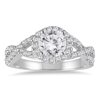 Marquee Jewels 14k White Gold 1 1/2ct TDW Diamond Engagement Ring (I-J, I2-I3)