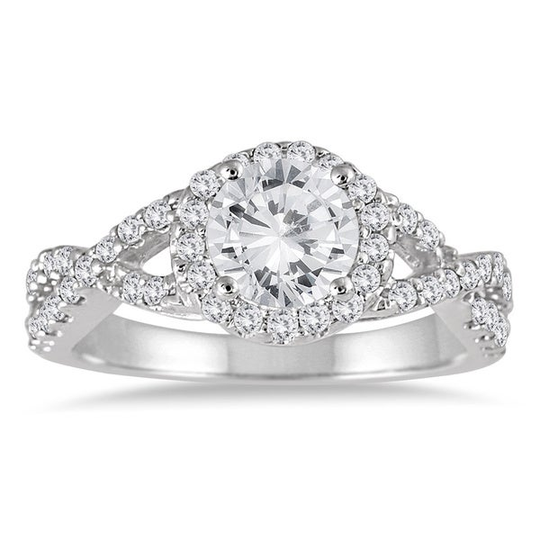 Marquee Jewels 14k White Gold 1 1/2ct TDW Diamond Engagement Ring