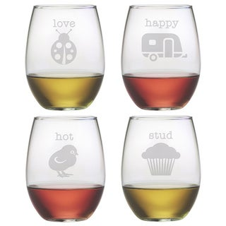 Pet Names Stemless Wine Glass (Set of 4)