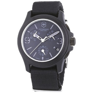 canvas watches overstock com the best prices on designer mens swiss army men s 241534 original chronograph black watch