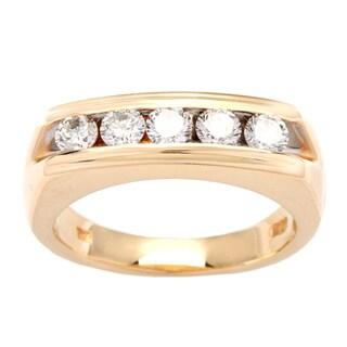 Pre-owned 14k Yellow Gold 1ct TDW White Diamond Five-stone Ring (H-I, VS1-VS2)|https://ak1.ostkcdn.com/images/products/9079191/P16270426.jpg?_ostk_perf_=percv&impolicy=medium