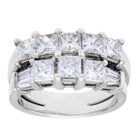 Pre-owned 14k White Gold 2ct TDW Diamond Multi-band Estate Ring (H-I, SI1-SI2)
