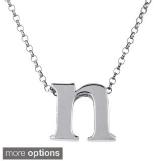 Sterling Silver Single Initial Charm Necklace