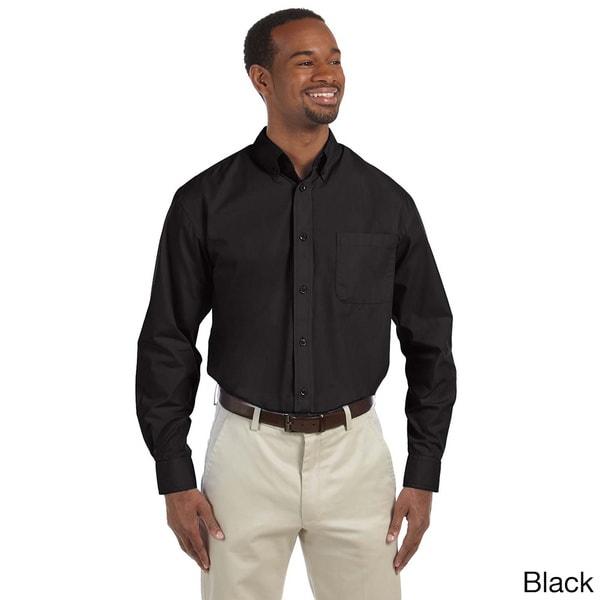 Men's Essential Poplin Button-down Shirt. Opens flyout.