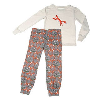 Girls Kalidefox Printed Long Sleeve Pajama Set