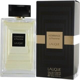 Lalique Hommage A L'homme Men's 3.4-ounce Eau de Toilette Spray