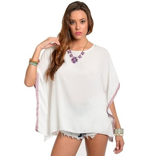 Stanzino Women's White Square Beach Top