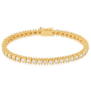 Finesque 14k Gold Overlay Diamond Accent Tennis Bracelet (I-J, I2-I3)