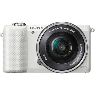 Sony Alpha A5000 Mirrorless White Digital Camera Body with 16-50mm f/3.5-5.6 OSS Lens