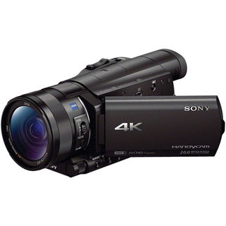 Sony FDR-AX100 4K Ultra HD Black Camcorder with 1-inch Sensor
