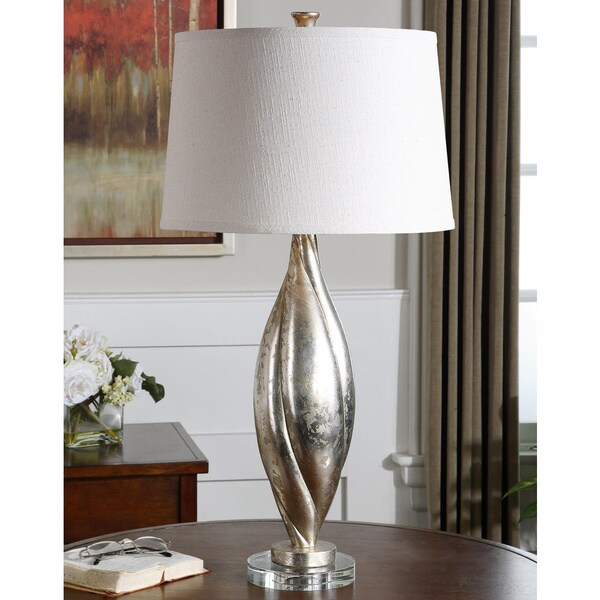 Uttermost Palouse Heavily Dirstressed Silvertone Table Lamp