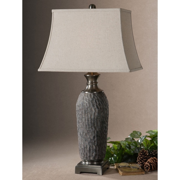 Shop Uttermost Tricarico Rectangle Bell Shade Dusty Grey