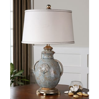 Uttermost Cancello Light Blue Ceramic Vase Table Lamp