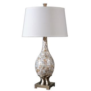 Uttermost Madre Mother of Pearl Moasic Table Lamp
