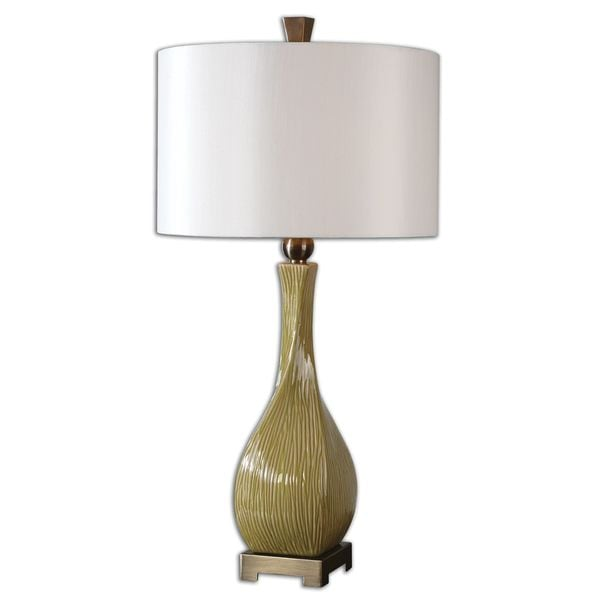 Uttermost Valsinni Chartreuse Ceramic Table Lamp