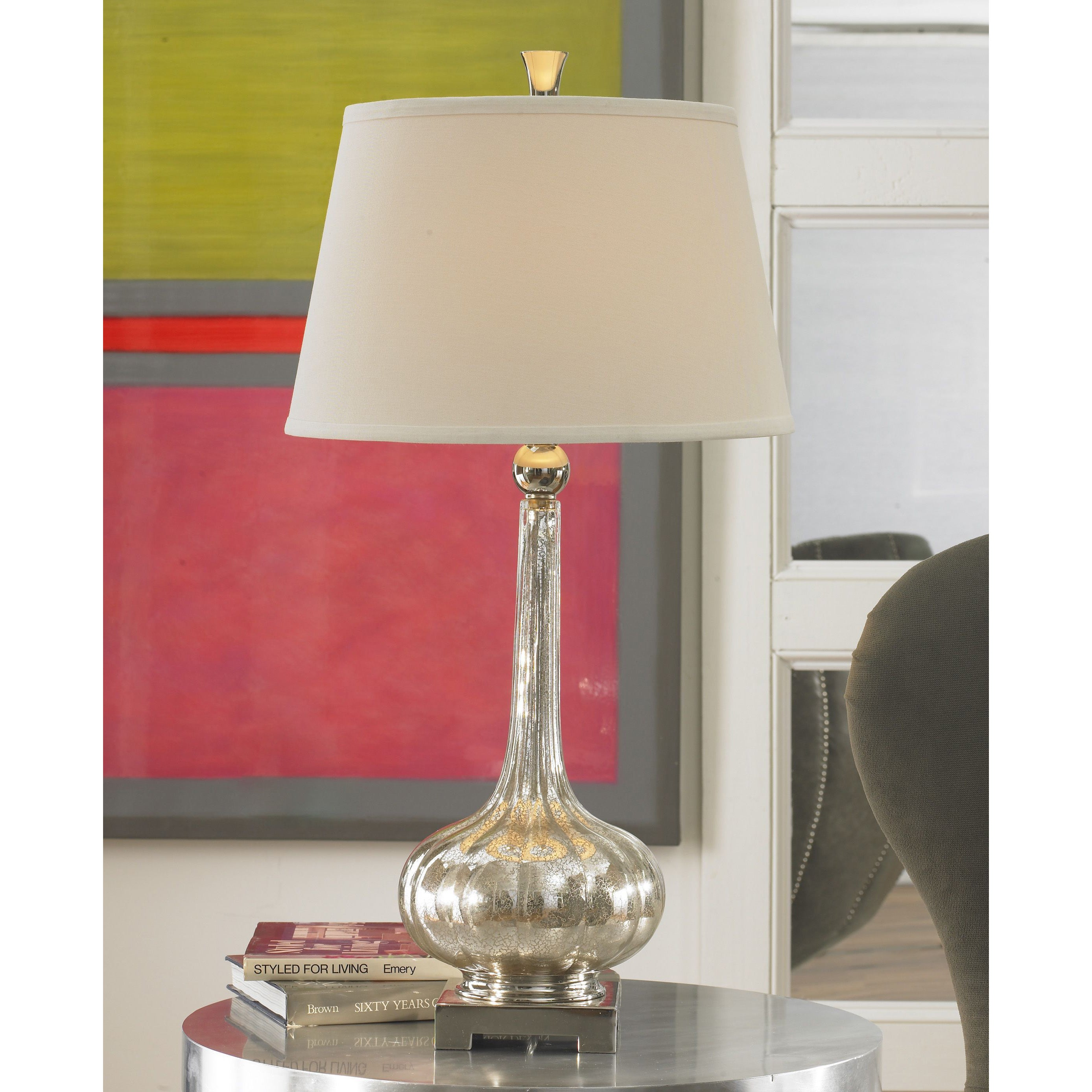 Shop Black Friday Deals On Uttermost Oristano Mercury Glass Table Lamp Overstock 9079595