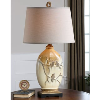 Uttermost Pajaro Ceramic Metal Resin Faric Table Lamp
