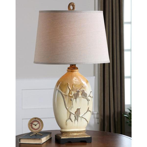Uttermost Pajaro Ceramic Metal Resin Faric Table Lamp
