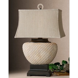 Uttermost Cumberland Beaded Sandstone Table Lamp
