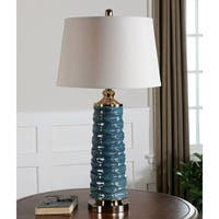 Uttermost Delavan Ceramic Metal Fabric Table Lamp