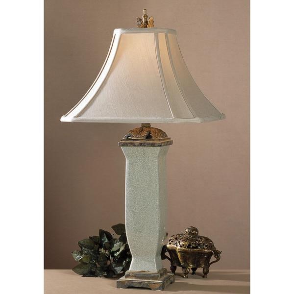 Shop Uttermost Reynosa Light Blue Grey Porcelain Table Lamp Free