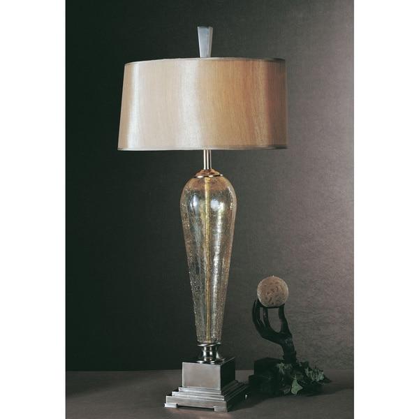 Uttermost Celine Crackled Glass Silken Gold Table Lamp - Free ...