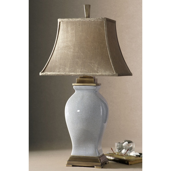 Shop Uttermost Rory Sky Blue Porcelain Table Lamp Free Shipping