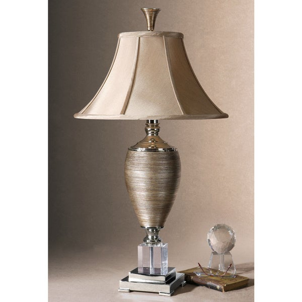 Uttermost Abriella Metal and Porcelain and Crystal Table Lamp