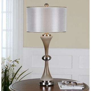 Uttermost Amerson Glass Dual Shade Grey Table Lamp