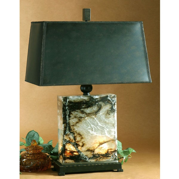 Uttermost Marius Marble and Metal Table Lamp