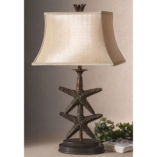 Uttermost Starfish Antiqued Gold Polyresin Table Lamp
