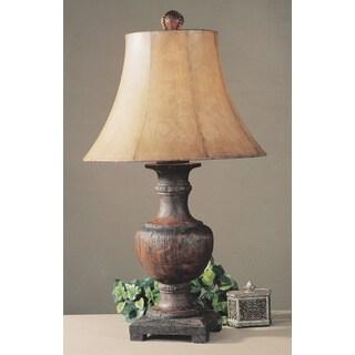 Uttermost Woodman Weathered Wood Resin/ Metal Table Lamp