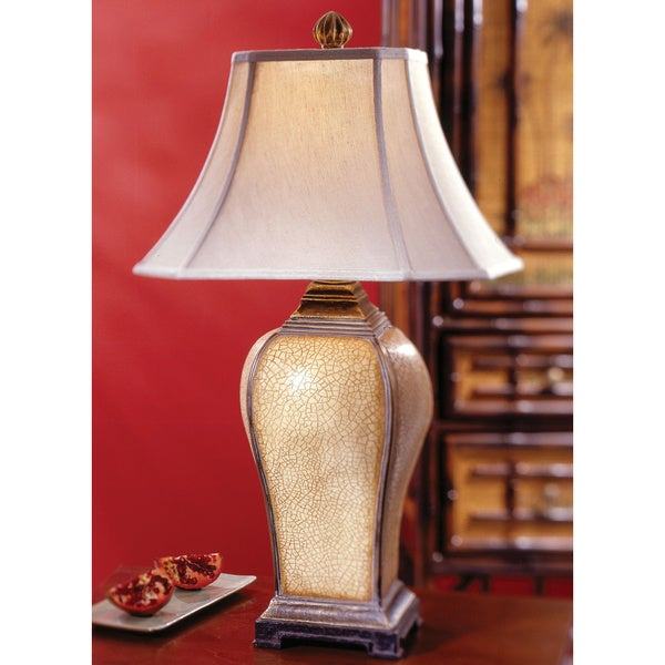 Uttermost Baron Ivory/ Antique Champagne Resin Table Lamp