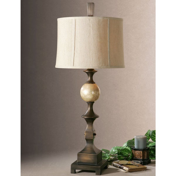 Uttermost Tusciano Dark Bronze Poly Metal Table Lamp
