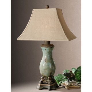 Uttermost Andelle Light Blue Ceramic/ Metal Table Lamp