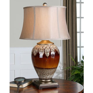 Uttermost Alluvioni Glossy Rust Bronze Ceramic Table Lamp
