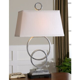 Uttermost Bacelos Silver Leaf Metal/ Poly Table Lamp