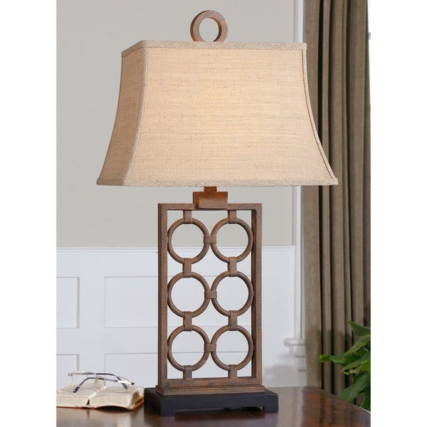 Uttermost Dardenne Rust Bronze Metal Table Lamp