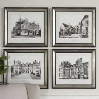 Uttermost Grace Feyock 'English Cottage I, II, III, IV' Framed 4-piece Art Print Set