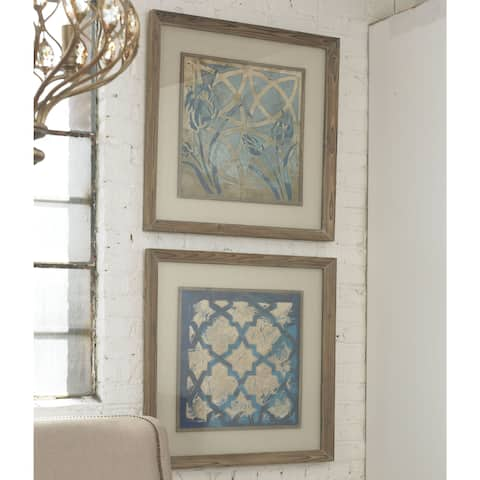 Uttermost Meagher 'Stained Glass Indigo' 2-piece Framed Canvas Art Set - Stained Glass/Indigo