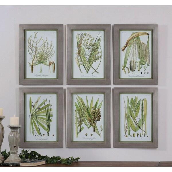 Overstock Wall Art uttermost grace feyock 'palm seeds' 6-piece canvas art print set