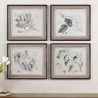 Uttermost Grace Feyock 'Sepia Leaf Study' 4-piece Canvas Art Set