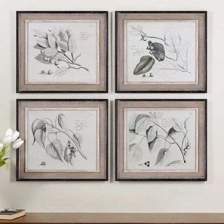 Uttermost Grace Feyock 'Sepia Leaf Study' 4-piece Canvas Art Set
