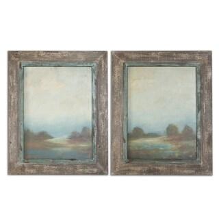 Uttermost Morning Vistas Set of 2 Framed Canvas